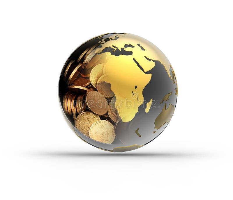 Globo do dinheiro ilustração stock
