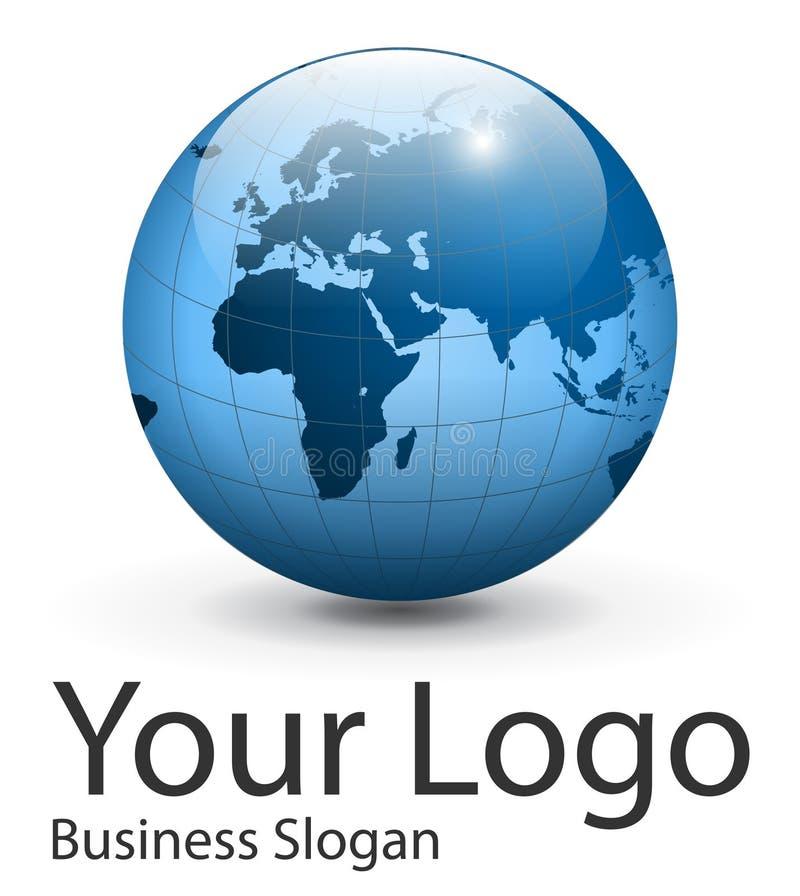 Globo do logotipo ilustração do vetor