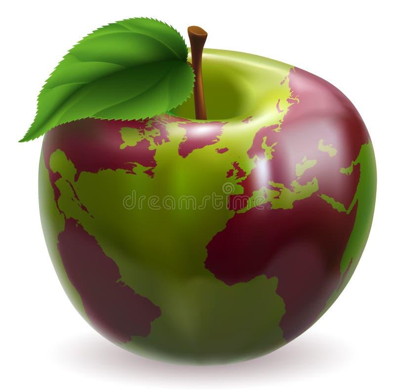 Globo do mundo de Apple ilustração royalty free