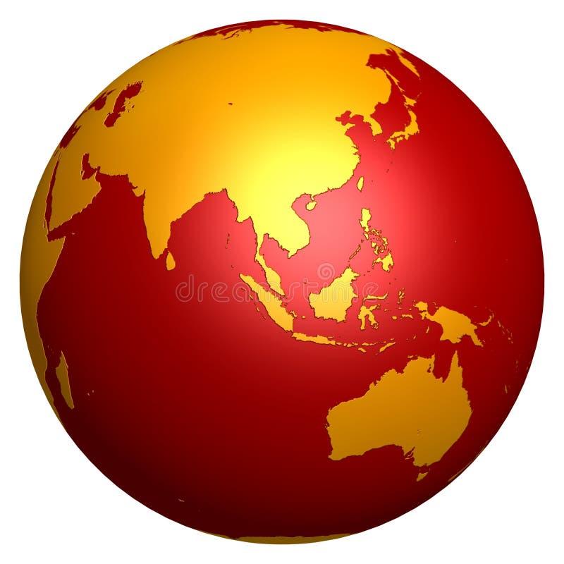 Globo dorato caldo illustrazione vettoriale