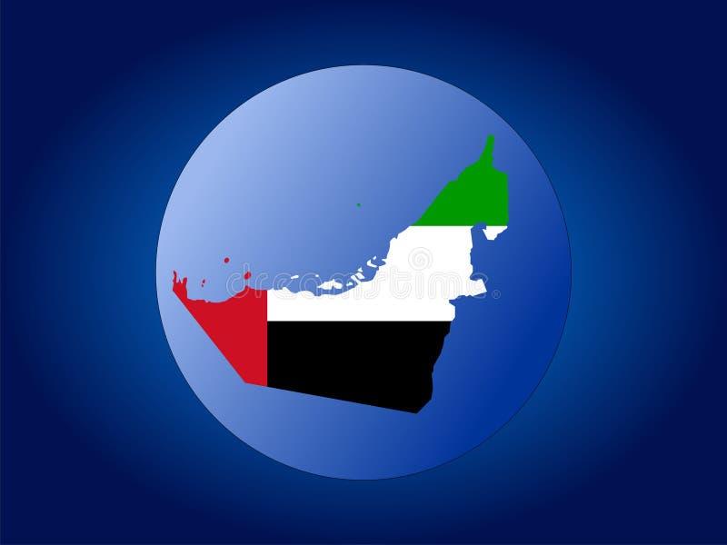 Globo dos UAE ilustração do vetor