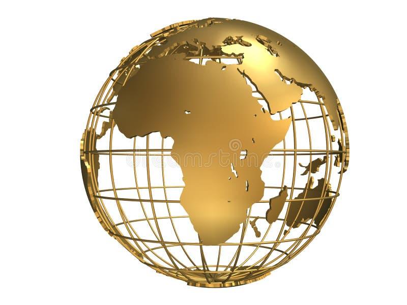 Globo dourado ilustração do vetor