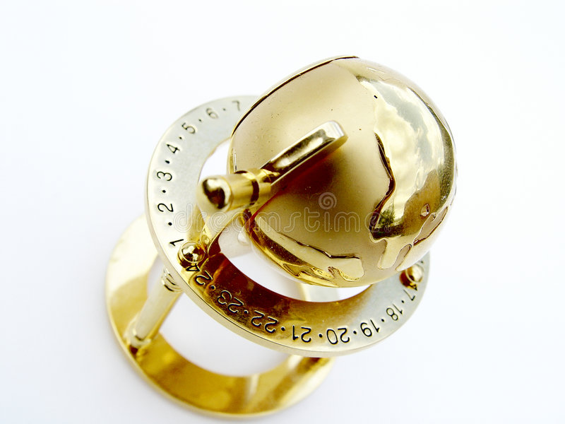 Globo dourado fotografia de stock royalty free
