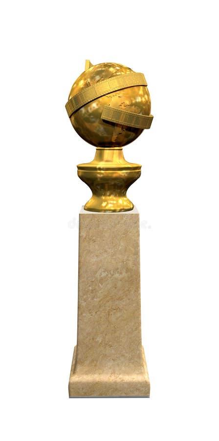 Globo dourado foto de stock royalty free