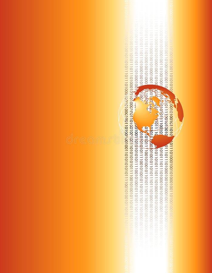 Globo e números binários ilustração royalty free