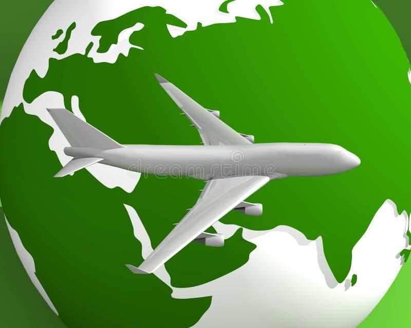 Globo ed aereo 004 fotografia stock libera da diritti
