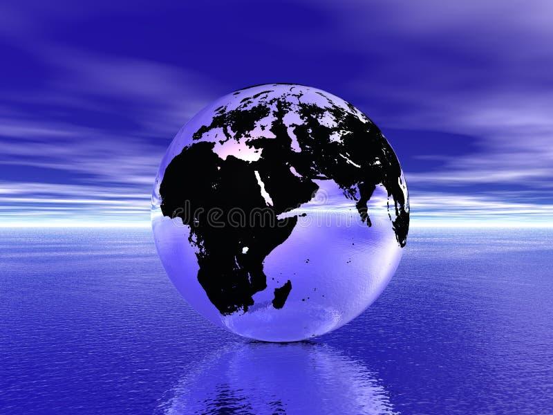 Globo en el océano libre illustration
