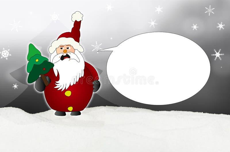 Globo enojado de Santa Claus Comic ilustración del vector