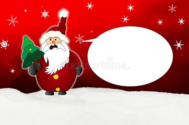 Globo enojado de Santa Claus Comic libre illustration