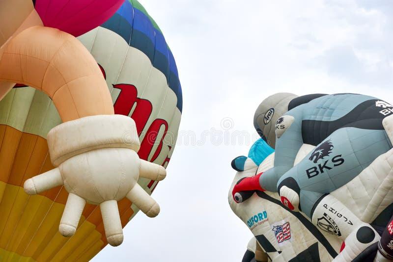 Globo especial gigante del aire caliente de la forma del motorcyclis imagen de archivo