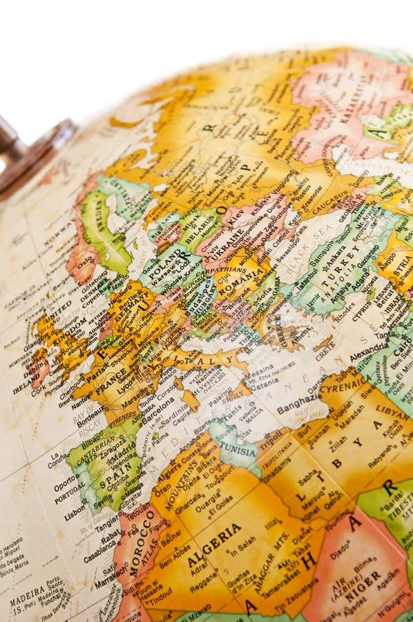 Globo - Europa imagem de stock