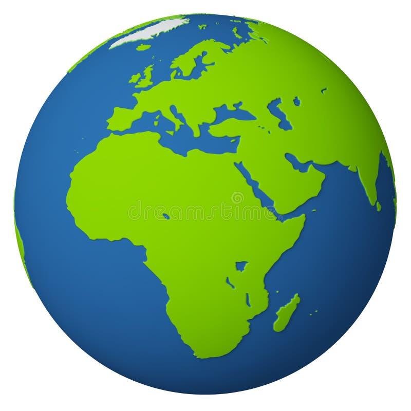 Globo/Europa e África ilustração do vetor