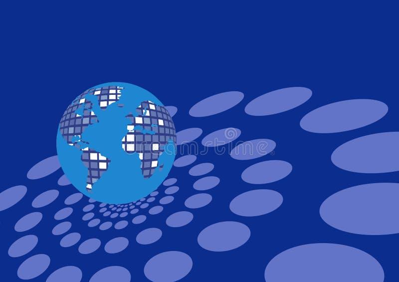Globo fatto dei quadrati illustrazione di stock
