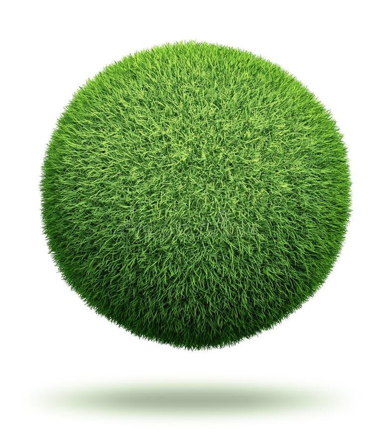 Globo feito da grama