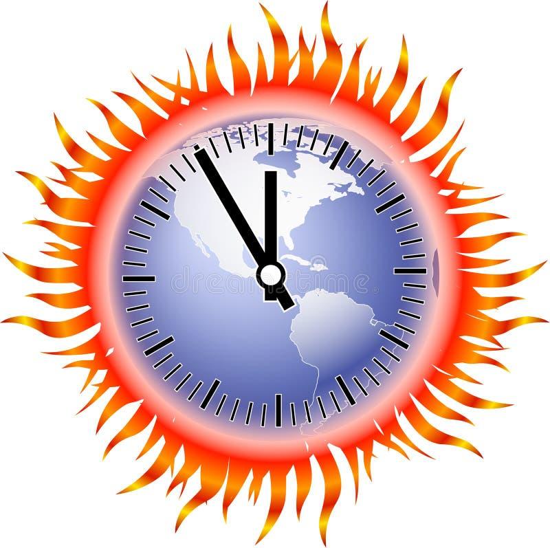Globo-fiamma-orologio illustrazione vettoriale
