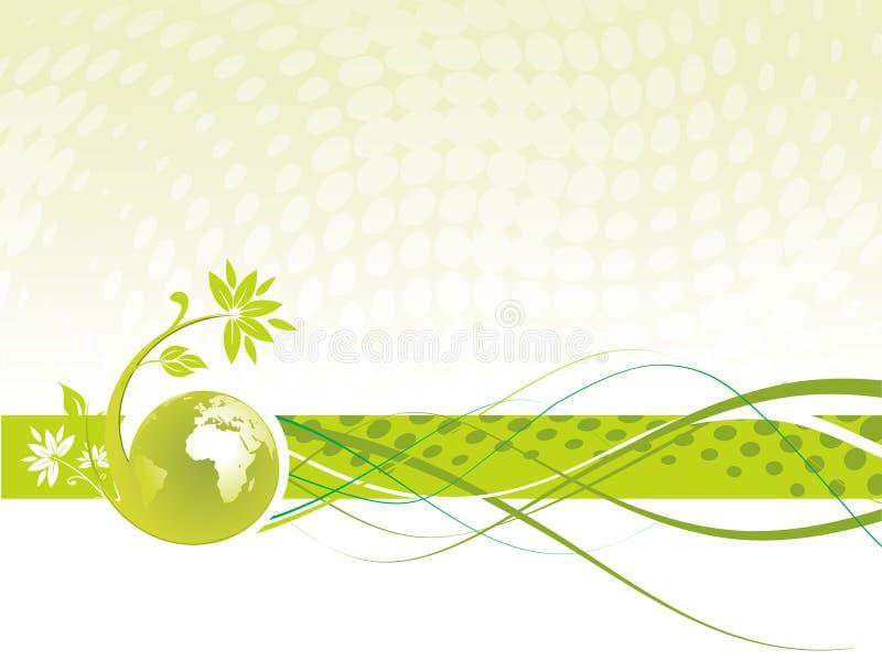 Globo floral ilustración del vector