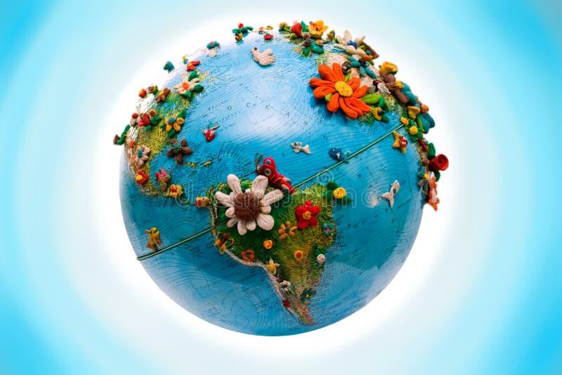 Globo florecido de América foto de archivo libre de regalías
