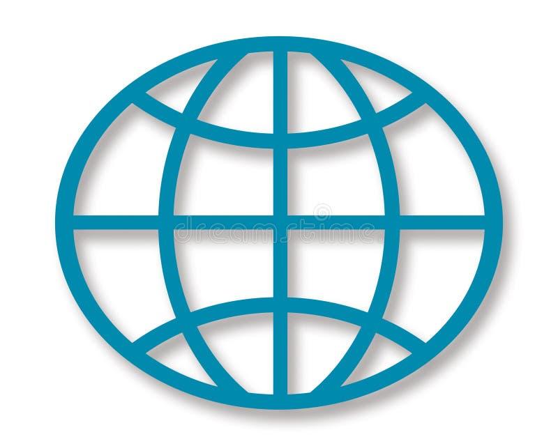 Globo geométrico ilustração royalty free