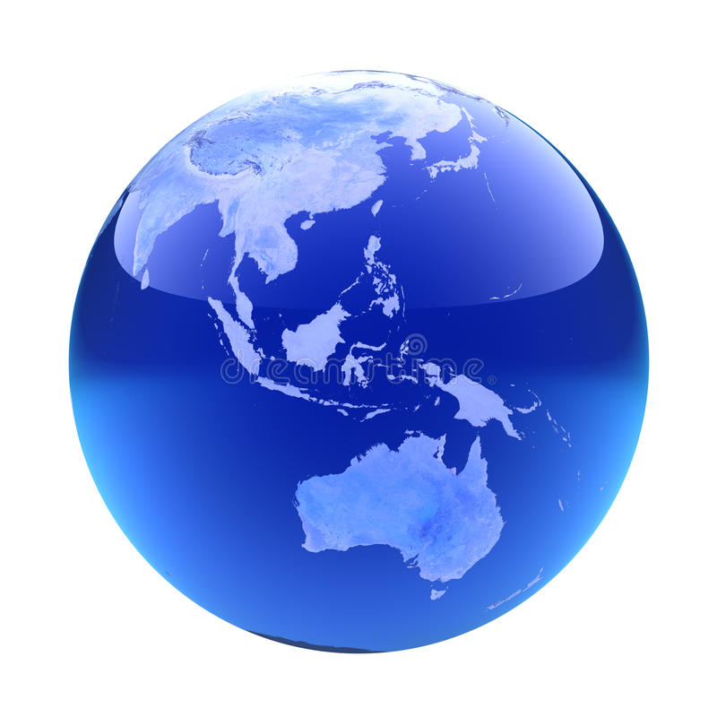 Globo Glassy austrália ilustração do vetor