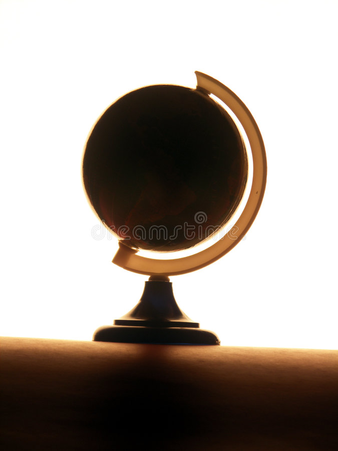 Globo illuminato fotografia stock libera da diritti