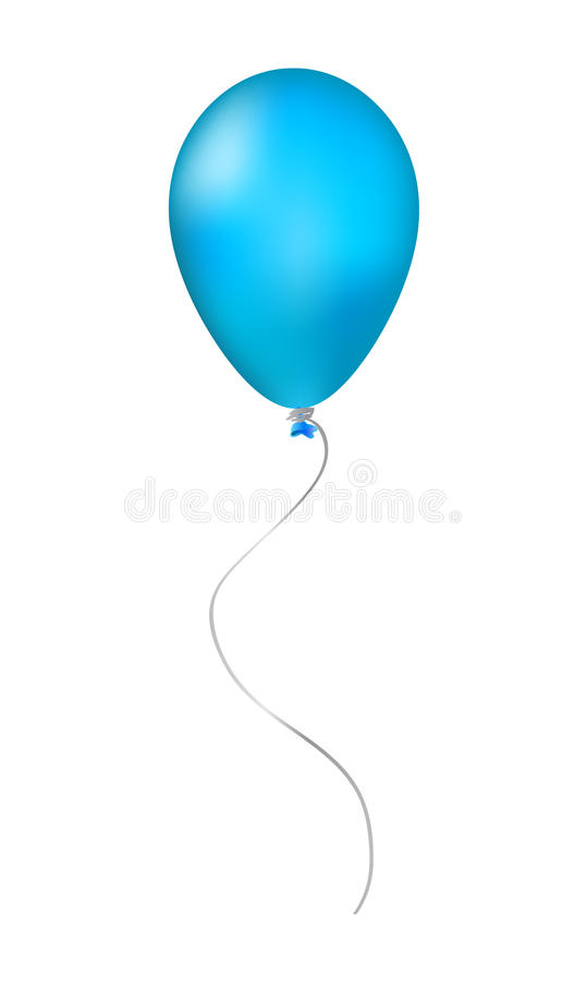 Globo inflable azul libre illustration