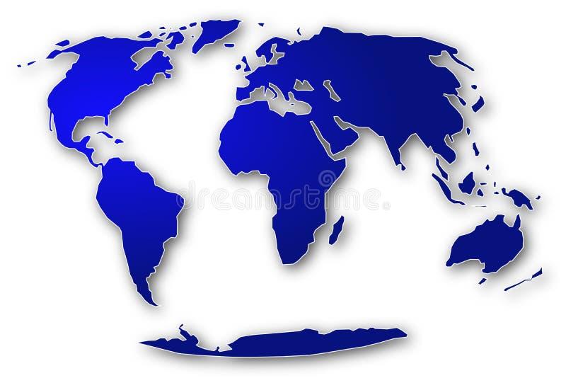 Globo inteiro da terra no azul ilustração royalty free