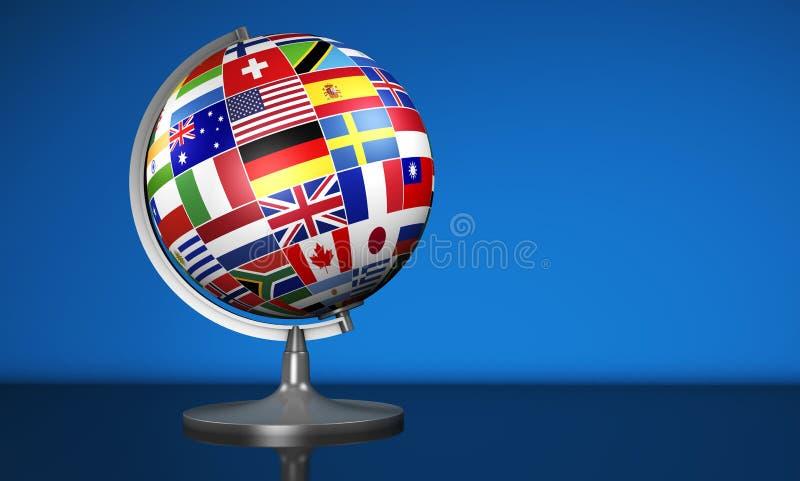 Globo internacional de la escuela de idiomas de negocio stock de ilustración