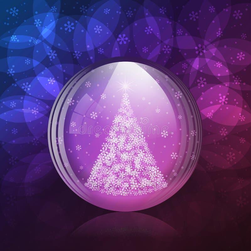 Globo luminescente de la nieve ilustración del vector