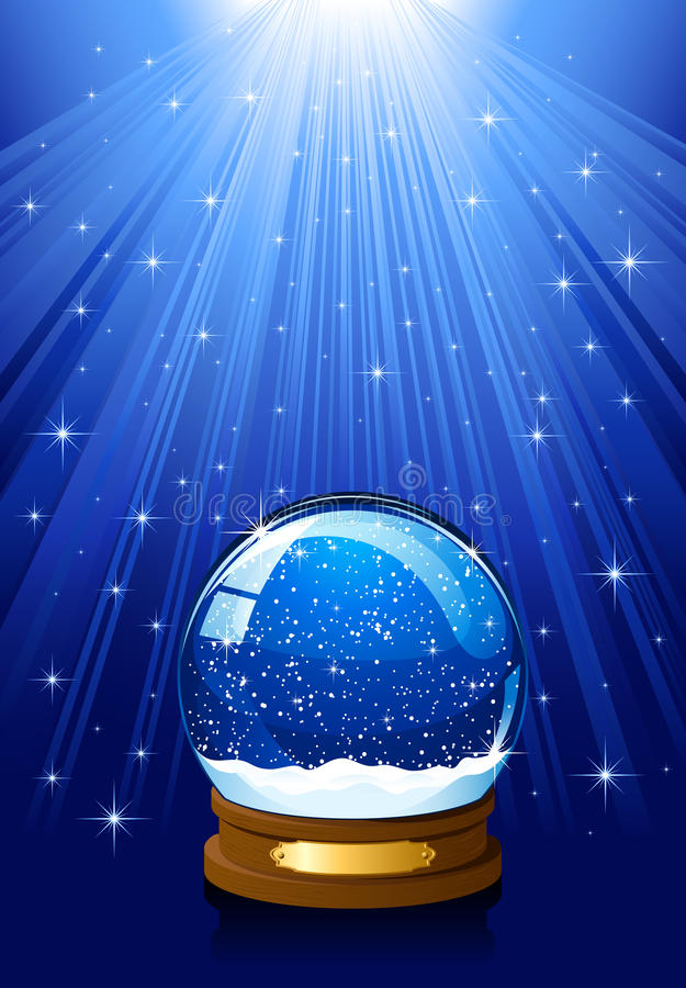 Globo mágico da neve ilustração royalty free
