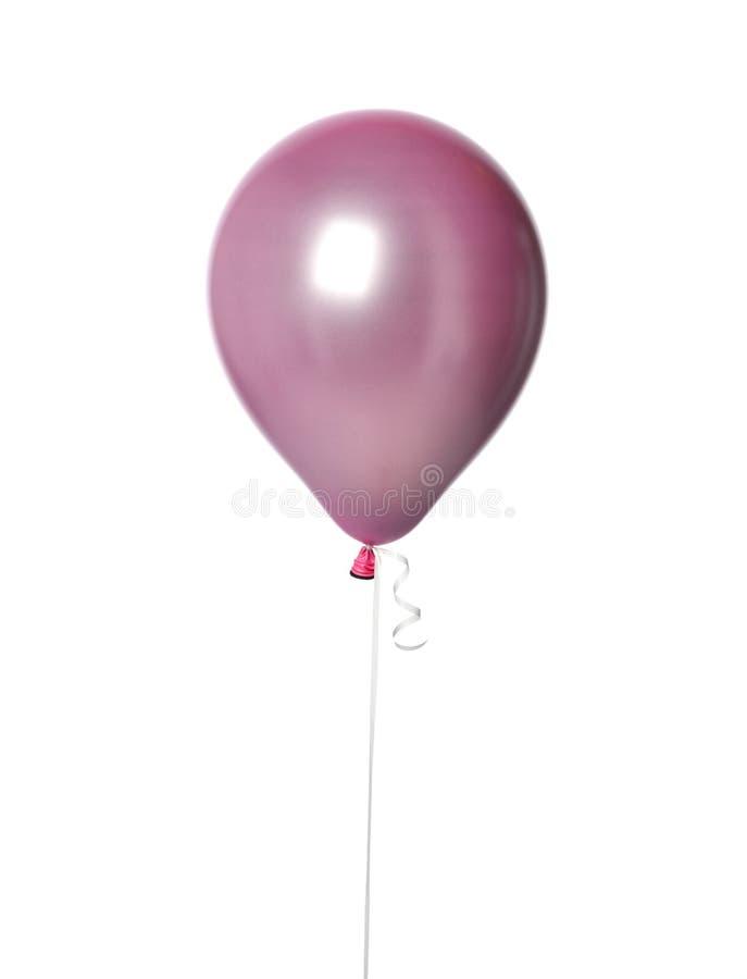Globo metálico púrpura del látex del color en colores pastel del rosa grande para la fiesta de cumpleaños aislada en un blanco foto de archivo