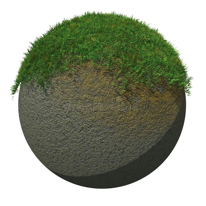 Globo molido con la hierba stock de ilustración