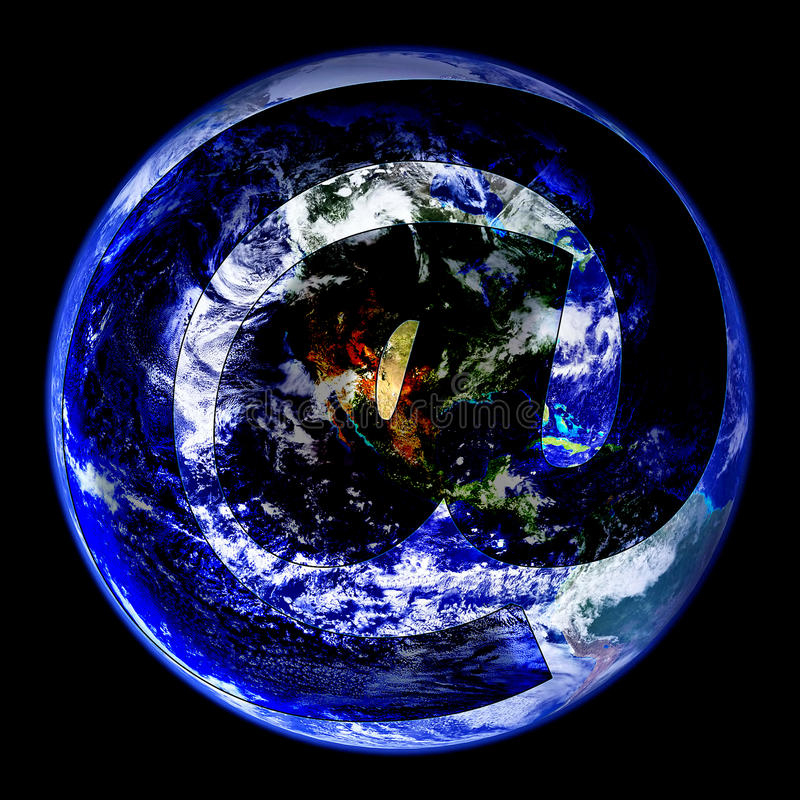 Globo mundial del email del oeste libre illustration