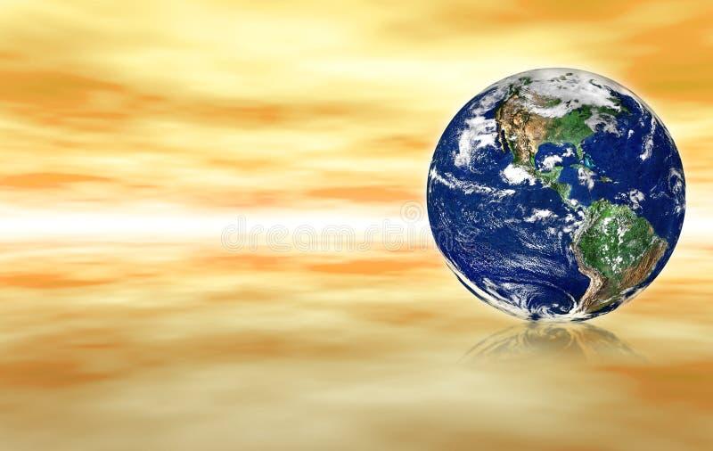 Globo no espaço abstrato ilustração royalty free