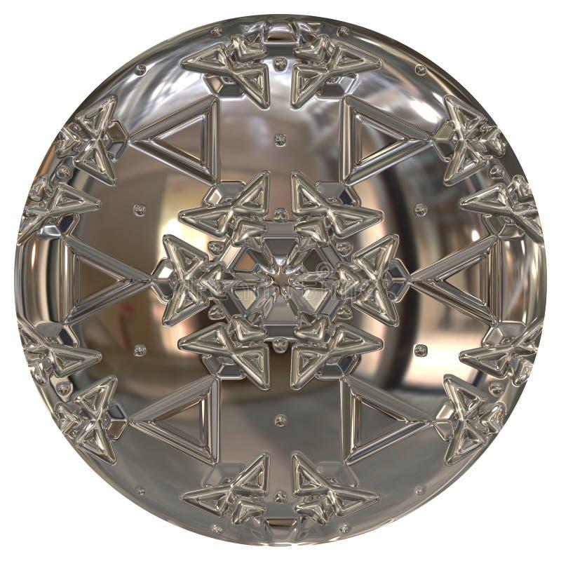 Globo o bottone d'argento illustrazione di stock