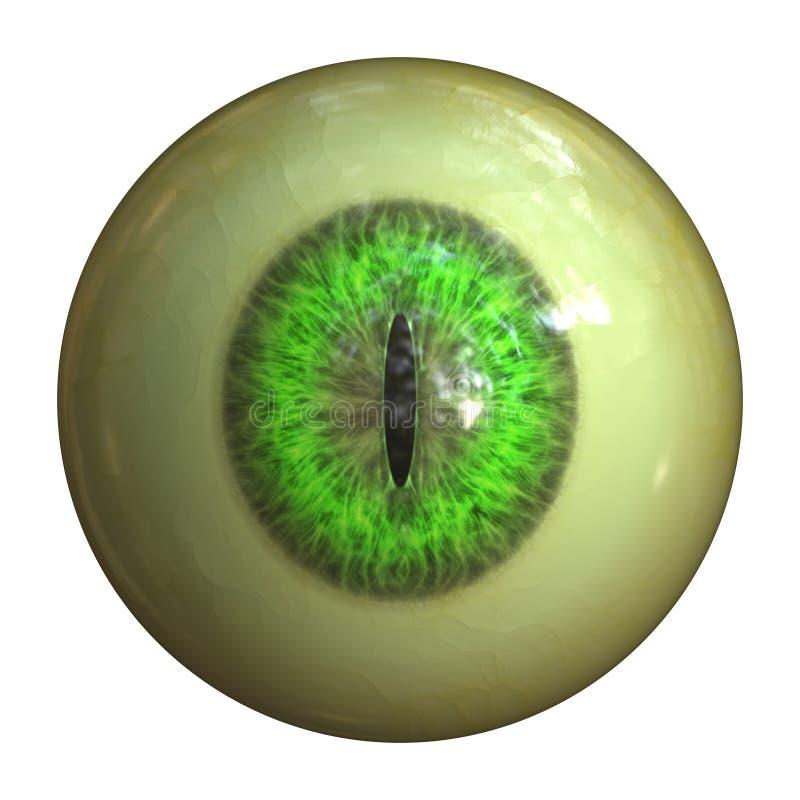 Globo ocular do monstro ilustração stock