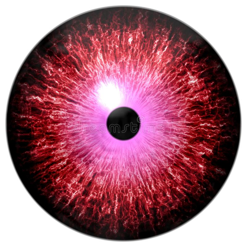 Globo ocular vermelho e roxo bonito do círculo 3d o Dia das Bruxas foto de stock