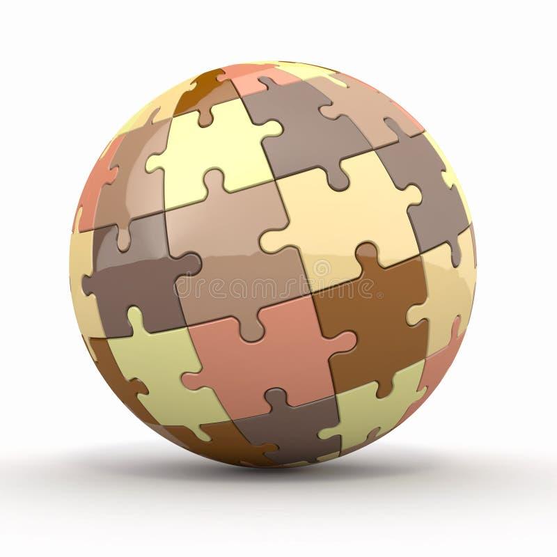 Globo ou esfera dos enigmas no fundo branco ilustração do vetor