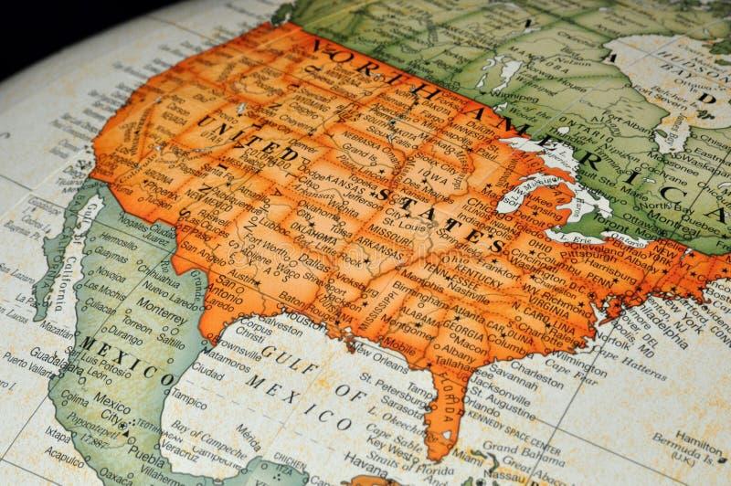 Globo ou mapa de Estados Unidos foto de stock royalty free