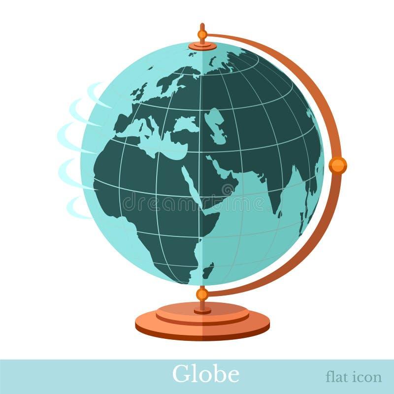 Globo piano dell'icona illustrazione vettoriale