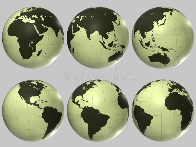 Globo plástico del mundo fotografía de archivo libre de regalías
