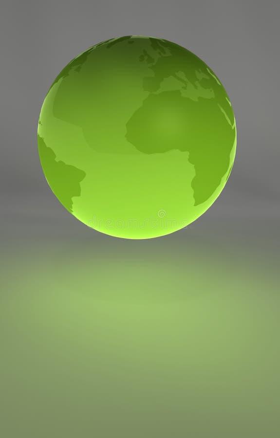 Globo plástico - los continentes ilustración del vector