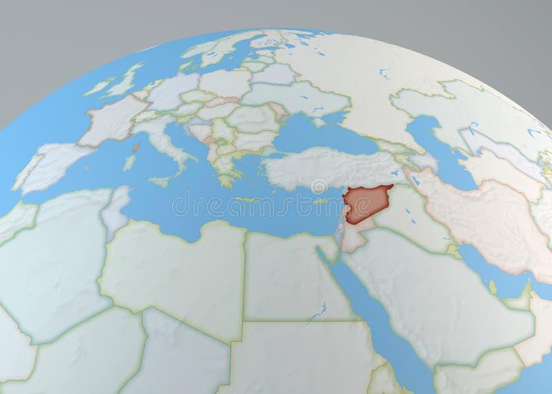 Globo politico della mappa di europa di medio oriente - Mappa di ungheria ed europa ...