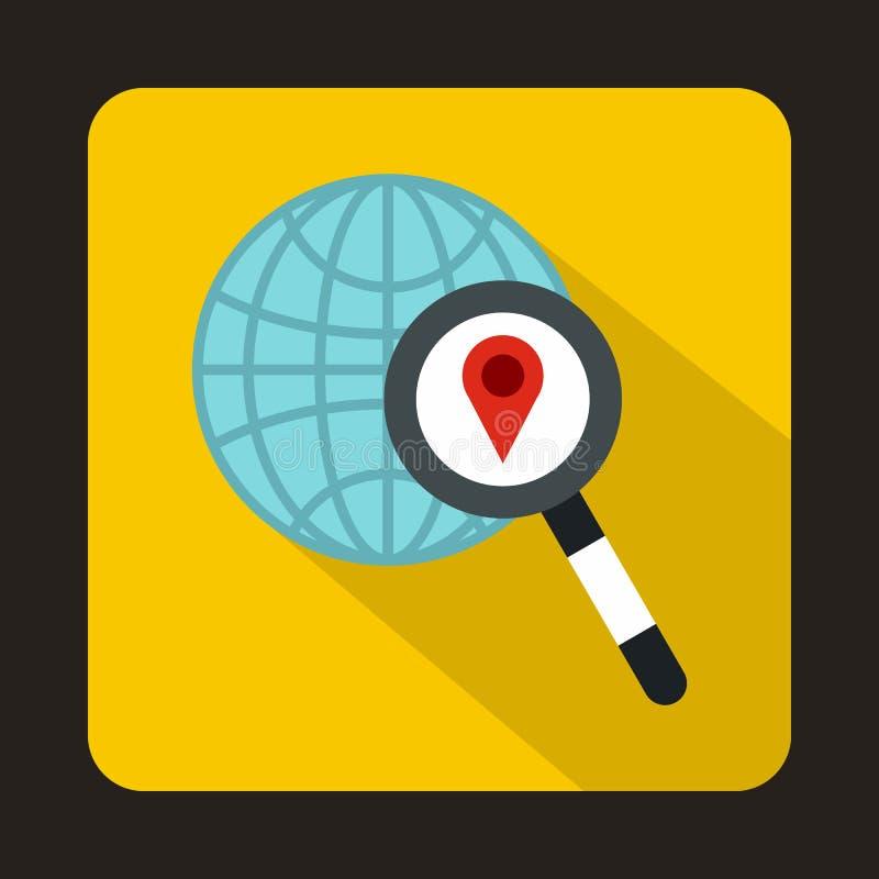 Globo, puntatore della mappa e lente d'ingrandimento royalty illustrazione gratis