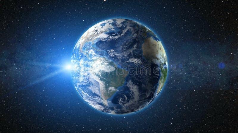 Globo realista del mundo ilustración del vector