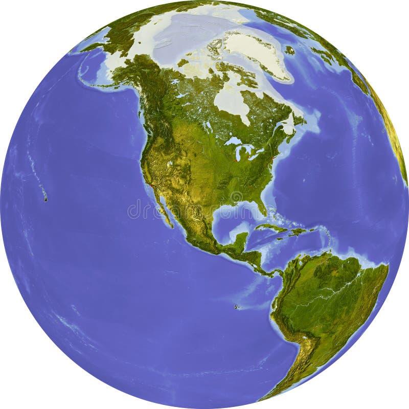 Globo, relevación sombreada ilustración del vector