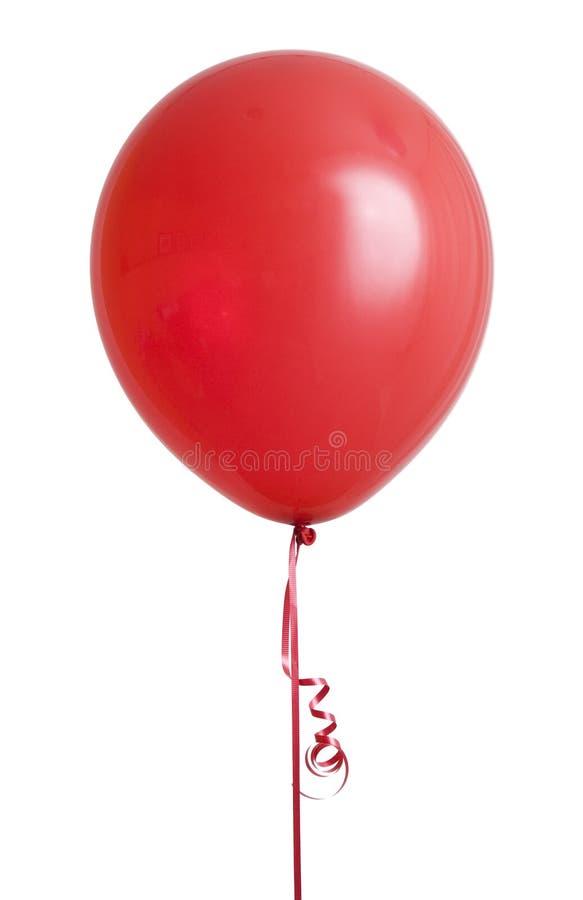 Globo rojo en blanco fotografía de archivo libre de regalías