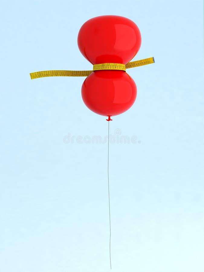 Globo rojo en una dieta ilustración del vector