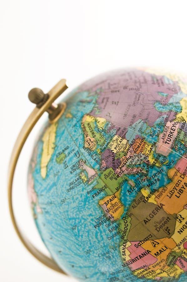 Globo su posizione (Europa) fotografia stock libera da diritti