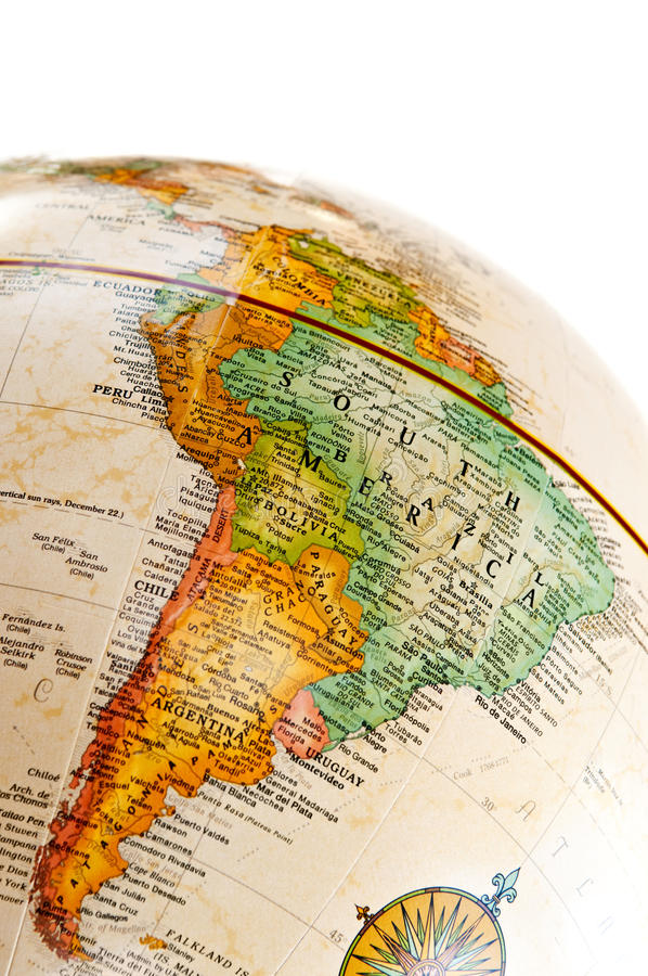 Globo - Sudamerica fotografia stock