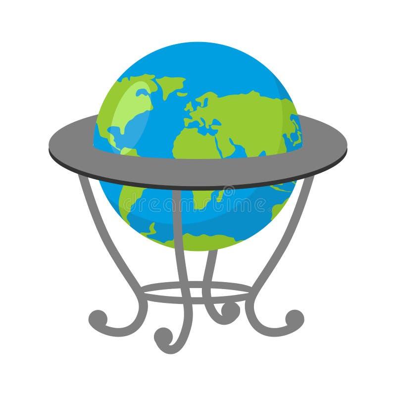 Globo sul supporto Modello di terra Atlante geografico della scuola royalty illustrazione gratis